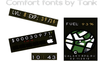Comfort fonts by tankograd