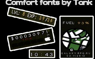 Comfort fonts by tankograd